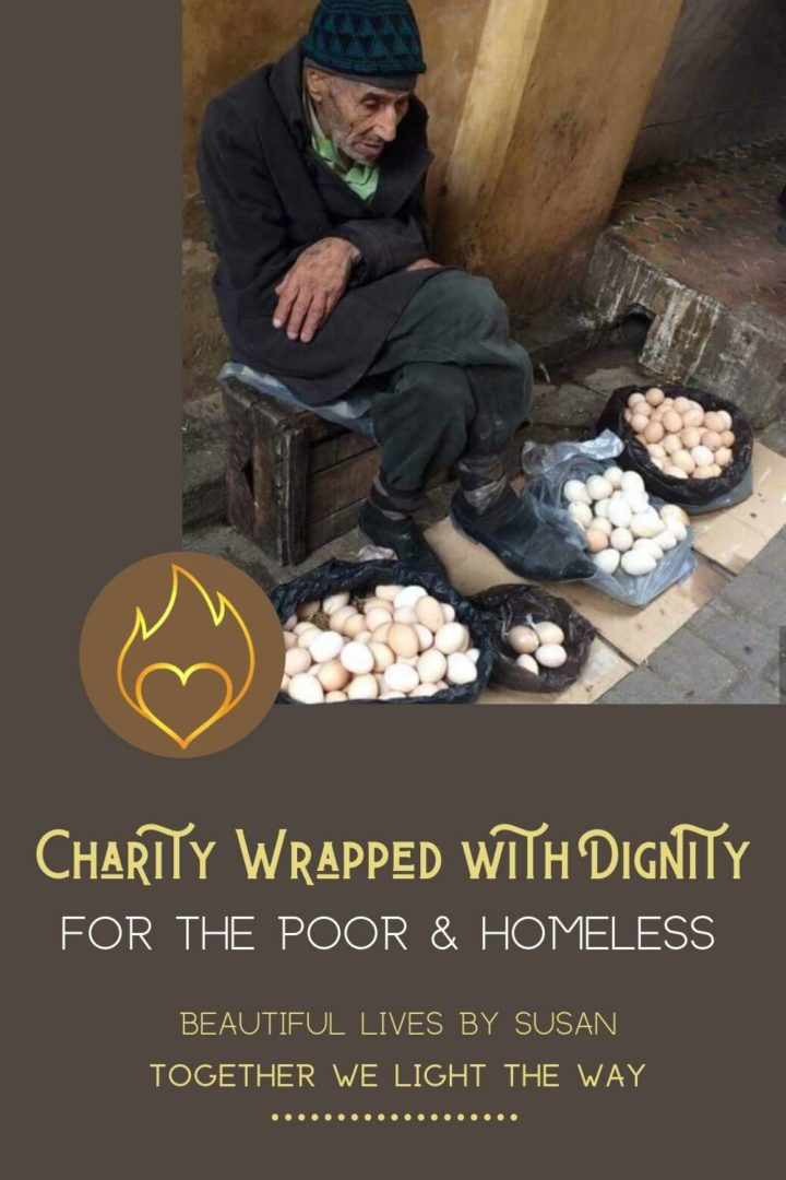 Charity Wrapped with Dignity for the Poor and Homeless