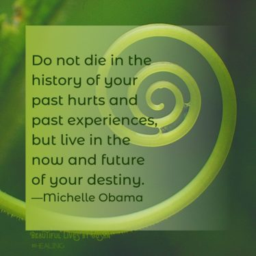 Do not dies in the history of your past hurts and past experiences, but live in the now and future of your destiny. - Michelle Obama
