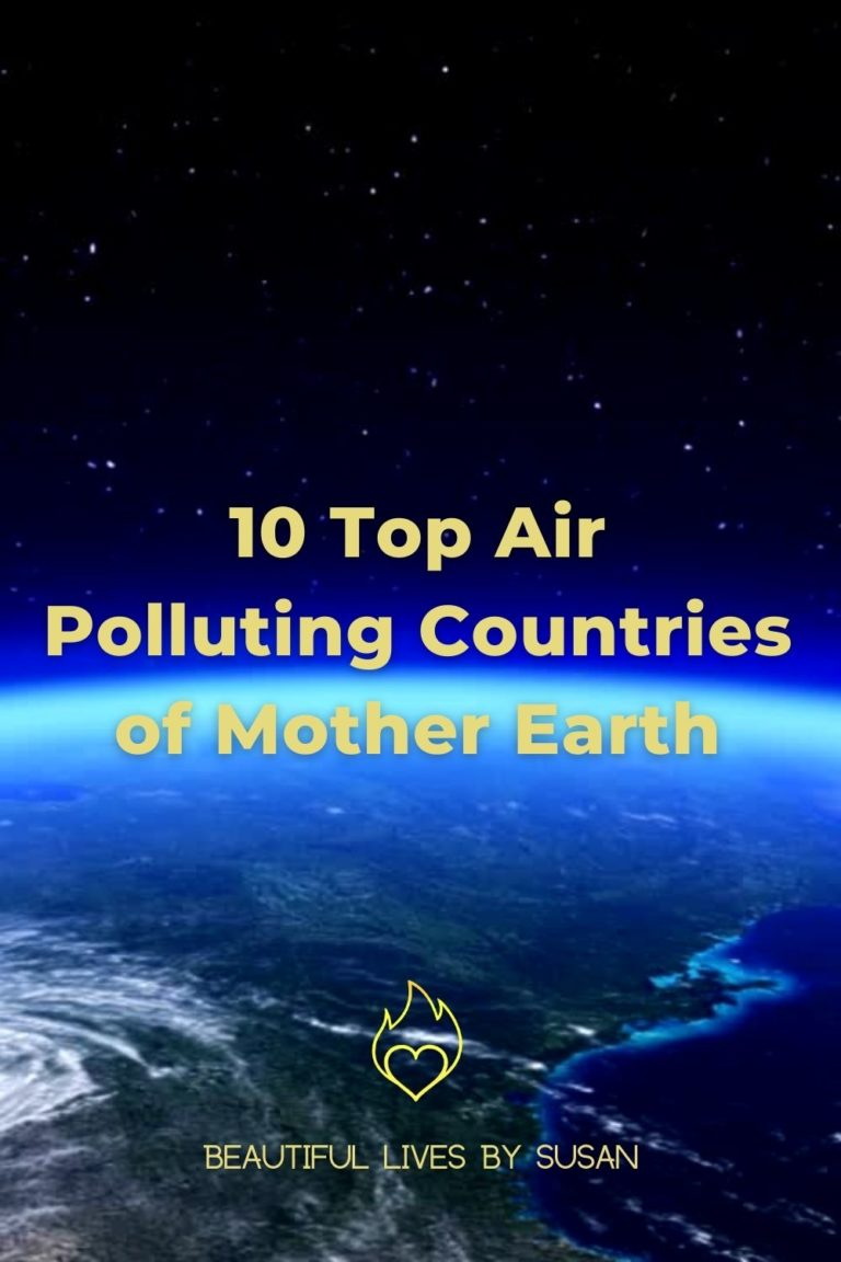 10 Top Air Polluting Countries of Mother Earth - Earth from space with a revolving blue horizon and stars in the top.