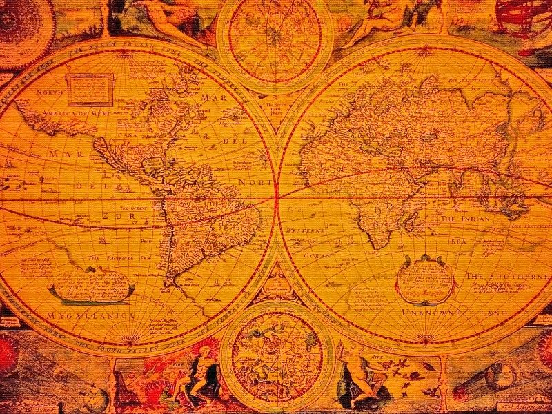 The Stress and Science of Climate Change - Medieval map of the world.